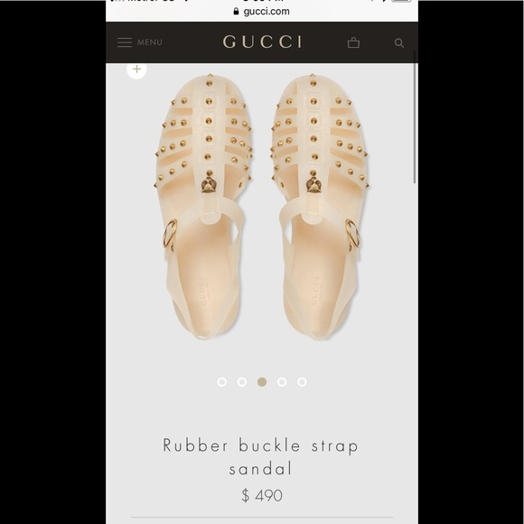 882739d86026 Gucci Other - Gucci Rubber Buckle strap sandal